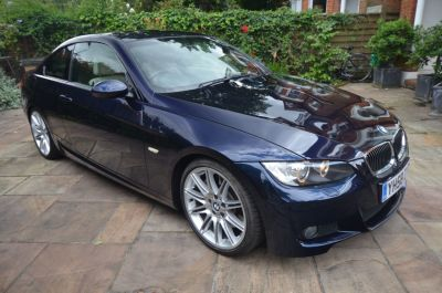 BMW 3 Series 3.0 330i M Sport 2dr Auto Coupe Petrol Blue at Rupert Goalen London